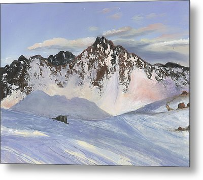 Alamoots Winter Mountains Metal Print by Cecilia Brendel