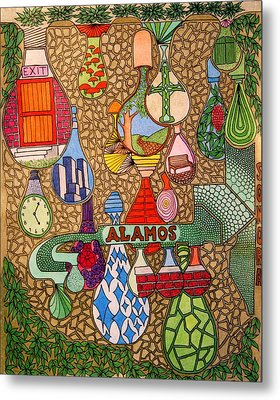 Alamos Lights Metal Print