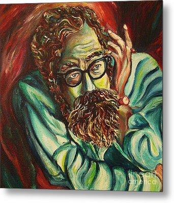 Alan Ginsberg Poet Philosopher Metal Print by Carole Spandau