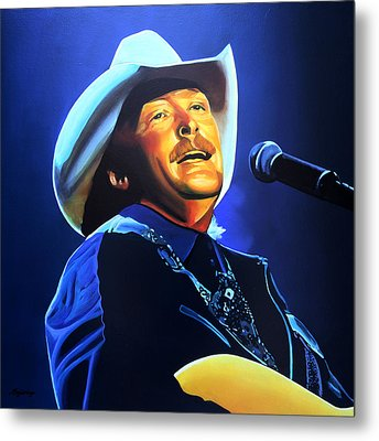 Alan Jackson Painting Metal Print