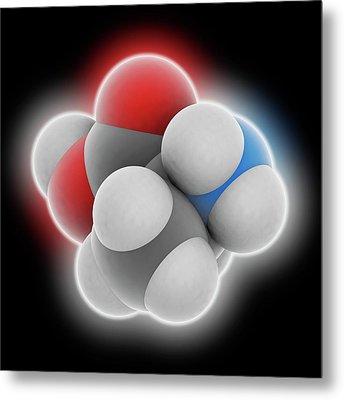 Alanine Molecule Metal Print by Laguna Design