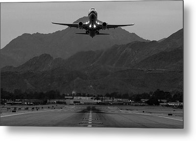 Alaska Airlines Palm Springs Takeoff Metal Print by John Daly