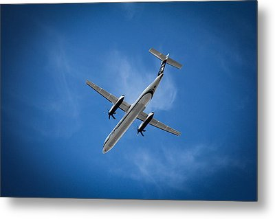 Airplane Metal Print featuring the photograph Alaska Airlines Turboprop by Aaron Berg