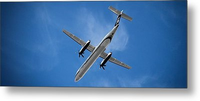 Airplane Metal Print featuring the photograph Alaska Airlines Turboprop Wide Version by Aaron Berg