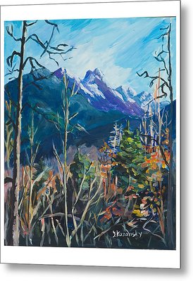 Alaska Autumn Metal Print by Yulia Kazansky