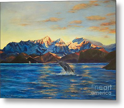 Metal Print featuring the painting Alaska Dawn by Jeanette French