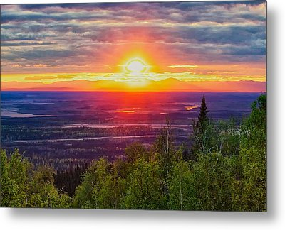 Metal Print featuring the photograph Alaska Land Of The 11 Pm Sun by Michael Rogers