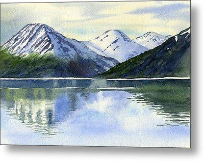 Alaska Mountain Reflections Metal Print by Sharon Freeman