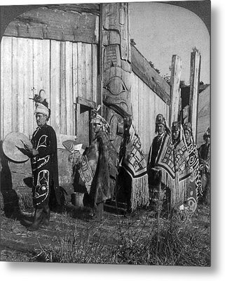 Alaska Potlatch Dancers Metal Print