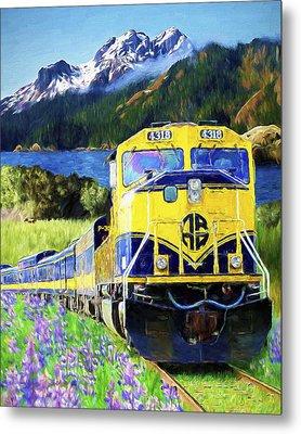 Alaska Railroad Metal Print