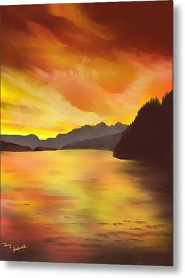 Alaska Sunset Metal Print by Terry Frederick