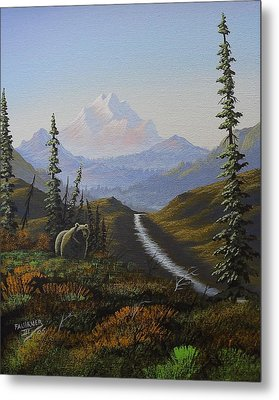 Metal Print featuring the painting Alaskan Brown Bear by Richard Faulkner