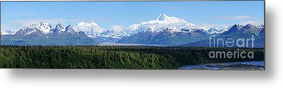 Alaskan Denali Mountain Range Metal Print by Jennifer White