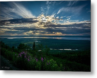Alaskan Summer Sunset Metal Print