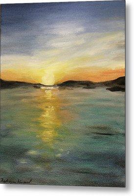 Alaskan Sunrise Metal Print by Barbara Anna Knauf