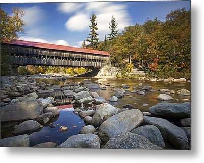 Albany Covered Bridge Metal Print by Eric Gendron