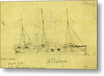 Albatross, Between 1860 And 1865, Drawing On Cream Paper Metal Print by Quint Lox