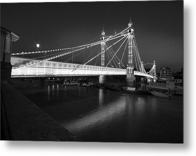 Albert Bridge At Night  Metal Print