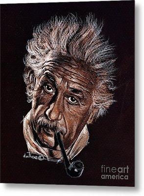 Albert Einstein Portrait Metal Print by Daliana Pacuraru