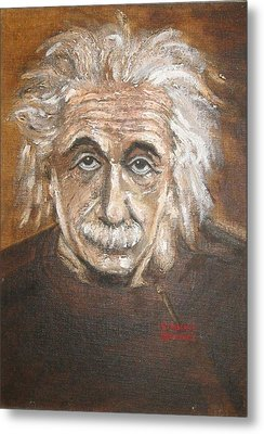 Albert Einstein Metal Print
