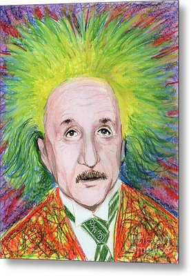 Albert Einstein Metal Print by Yoshiko Mishina
