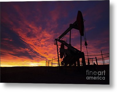Alberta Canada Oil Country Metal Print by Bob Christopher