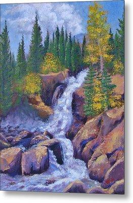 Alberta Falls Metal Print by Margaret Bobb