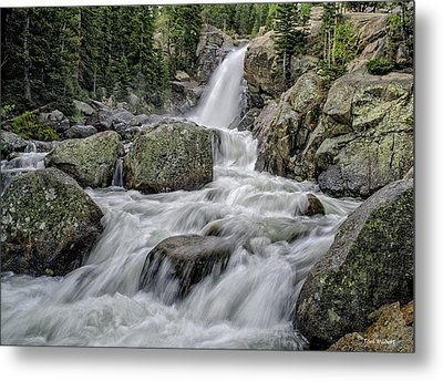 Alberta Falls Metal Print by Tom Wilbert