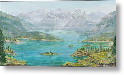 Alberta Rocky Mountains Metal Print by Cathy Long