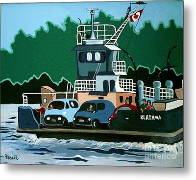 Metal Print featuring the painting Albion Ferry by Joyce Gebauer