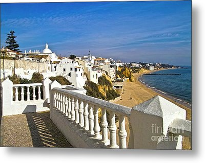 Albufeira Village By The Sea Metal Print by Heiko Koehrer-Wagner