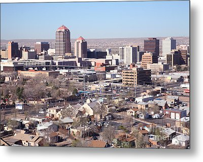 Albuquerque Skyline Metal Print by Bill Cobb