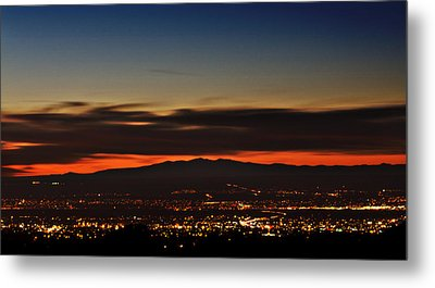 Albuquerque Sunset Metal Print by Marlo Horne