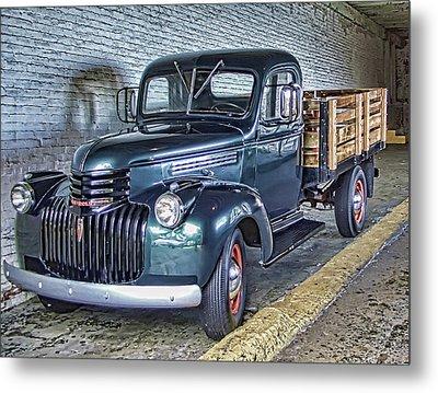 Alcatraz 1940 Chevy Utility Truck Metal Print by Daniel Hagerman