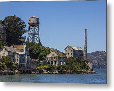 Alcatraz Dock And Water Tower Metal Print by John McGraw