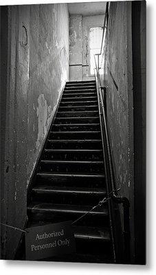 Alcatraz Hospital Stairs Metal Print by RicardMN Photography