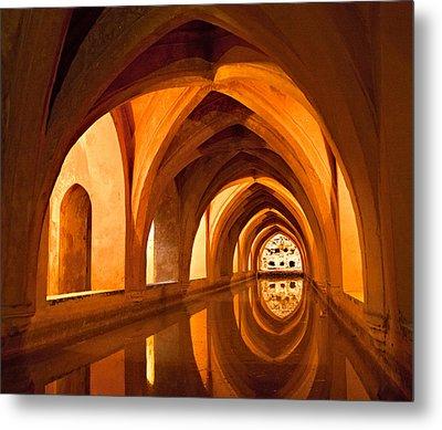 Alcazar Cave Galleries Seville Metal Print by Viacheslav Savitskiy
