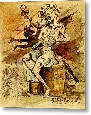 Alcohol Death And The Devil Metal Print