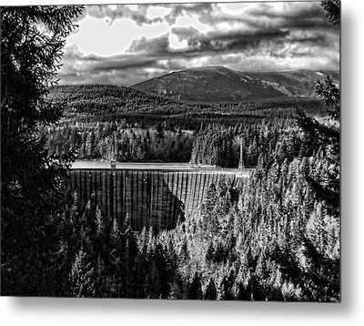 Metal Print featuring the photograph Alder Dam Near Mt Rainer Wa by Ron Roberts