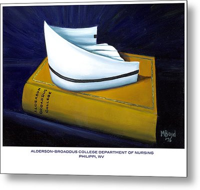 Metal Print featuring the painting Alderson-broaddus College by Marlyn Boyd