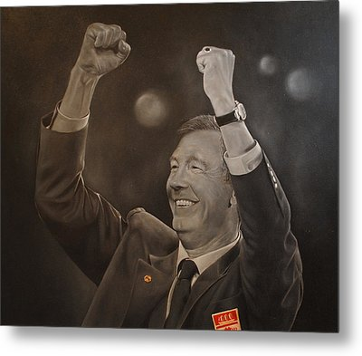 Alex Ferguson Metal Print by David Dunne