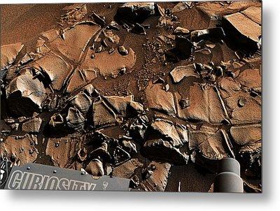 Alexander Hills Bedrock In Mars Metal Print
