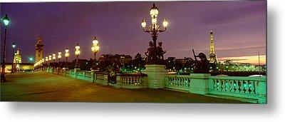 Alexander IIi Bridge, Paris, France Metal Print by Panoramic Images