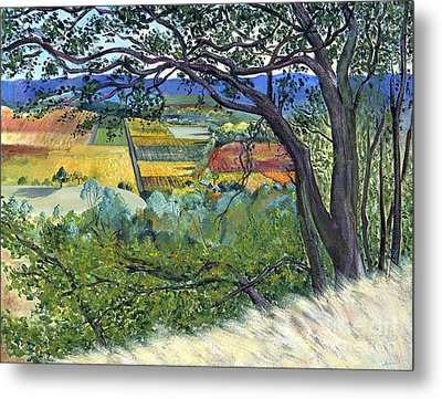 Metal Print featuring the painting Alexander Valley Vinyards by Asha Carolyn Young