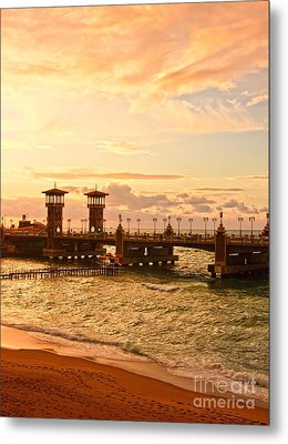 Alexandria Stanley Bridge Metal Print by Mohamed Elkhamisy