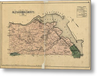 Alexandria Virginia 1878 Metal Print