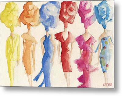 Alexis Mabille Couture - Fashion Illustration Art Print Metal Print