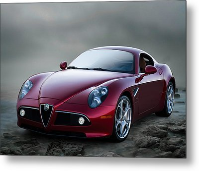 Alfa 8c Metal Print by Douglas Pittman