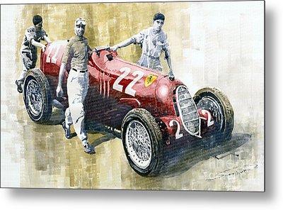 Alfa Romeo 12c-36 Tazio Nuvolari Coppa Ciano Race 1937 Metal Print