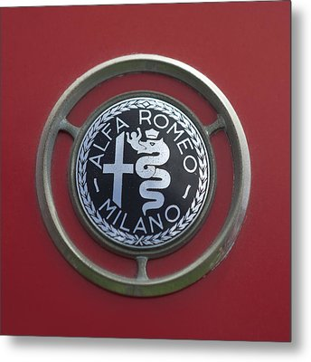 1961 Alfa Romeo Giulietta Sprint Veloce Series II Emblem -1045c Metal Print